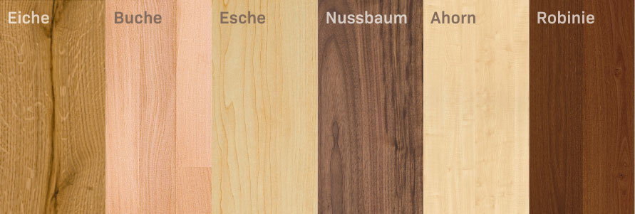 Holzarten Boden Unterschiede