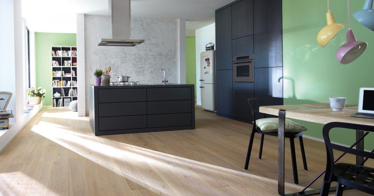 Holzboden sorgt für nachhaltiges Wohnen
