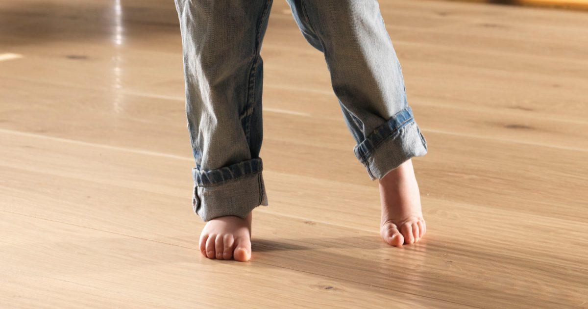 Dank der Fußbodenheizung sind die Füße immer warm