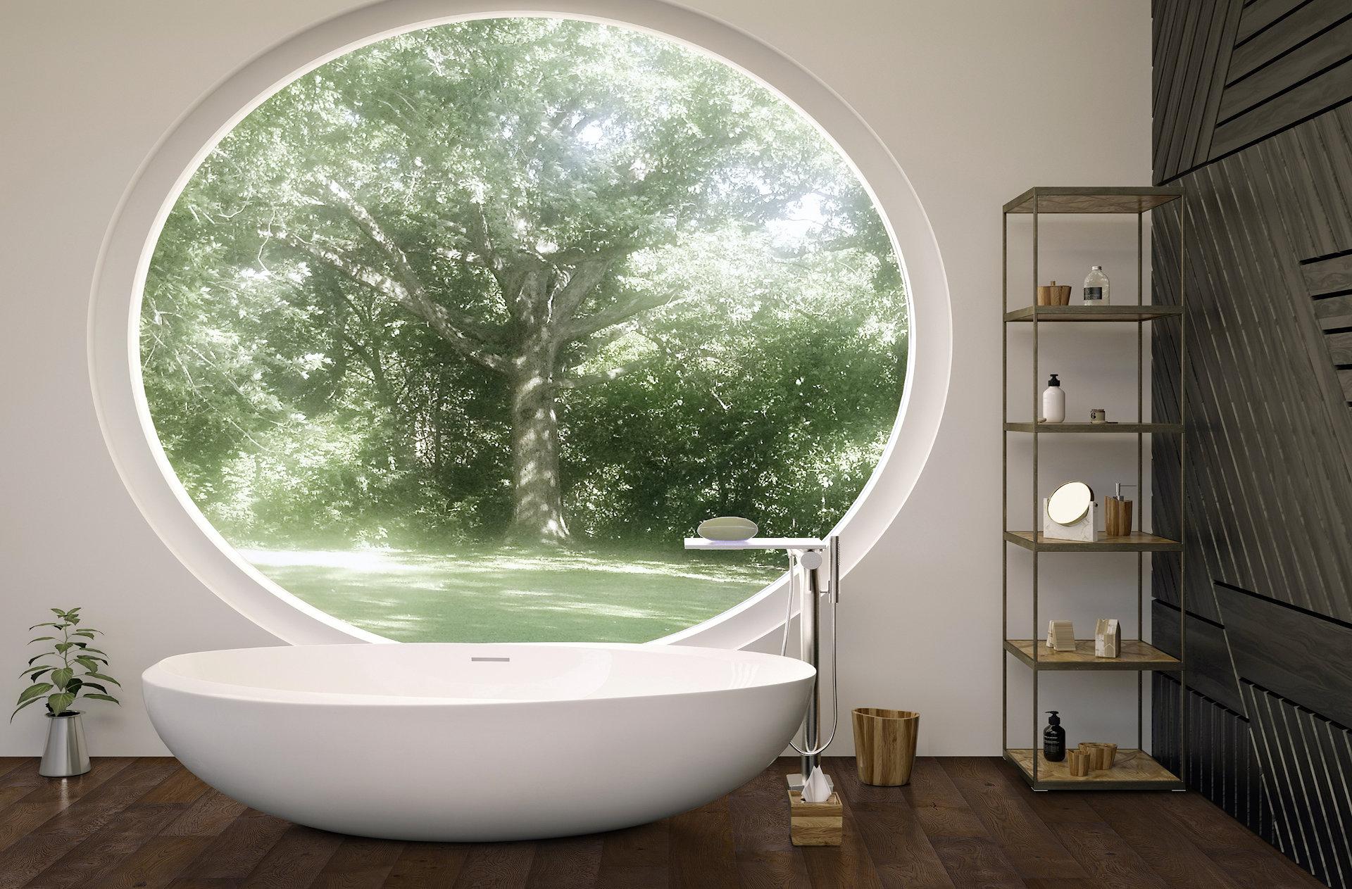 Echter Holzboden eignet sich auch für das Badezimmer